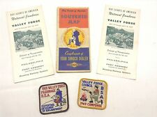 Vintage Boy Scouts Of America Valley Forge Patches Map Transportation Schedule