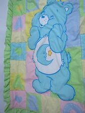 Care Bears Baby Good Night Bear Blanket Lovey ABC Hearts Crib Comforter Vintage