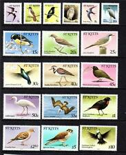 ST KITTS MNH 1981 SG53a - 70a BIRDS COMPLETE SET OF 18