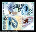 RUSSIA 100 RUBLES 2014 COMMEMORATIVE LargeAA SOCHI OLYMPIC SKI UNC CURRENCY NOTE
