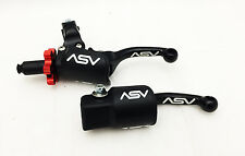 ASV F3 Pro Pack Shorty Black Adjustable Folding Brake + Clutch Levers Yamaha YZ