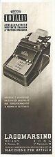 Y2329 TOTALIA - Macchine per ufficio LAGOMARSINO - Pubblicità del 1942 - Old ad