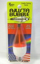 Rainbow Plastic 3/8oz A-Just-A Bubble Fluorescent Red White Fishing Float Bobber