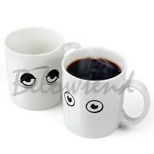 Hot Amazing Wake Up Eyes Magic Changing Mugs Temperature Ceramic Coffee Cup