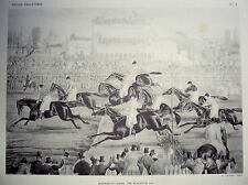 PLANCHE DE ACKERMANN S THE WORCESTER 1856 COURSE DE CHEVAUX 1945