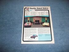1984 Pacific Coast Cobra Vintage Kit Car Ad Custom Engineering Inc.