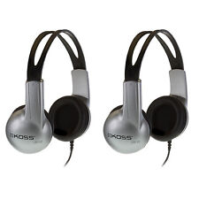 Lot of 2 Koss UR-10 Closed-ear Adjustable Stereo Headphones