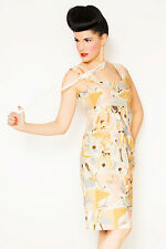 Broad Minded Clothing Mod Future Ella Space Pinup Girl Print Dress in SZ X-SMALL