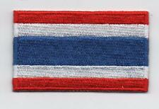 Embroidered THAILAND Flag Iron on Sew on Patch Badge HIGH QUALITY APPLIQUE