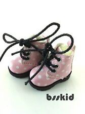 Blythe Pullip Dal Lati Yellow Doll Shoes PINK Polka Dot Boots Cute