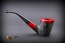HAND MADE WOODEN TOBACCO SMOKING PIPE  no 48  Rustic Red    Pear
