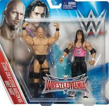 BRET HART & STEVE AUSTIN WRESTLEMANIA 32 WWE MATTEL ACTION FIGURE TOY - IN STOCK