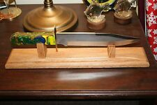 Solid Oak Bowie Knife Display Stand