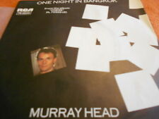 "7"" Murray Head - One Night in Bangkok  *"