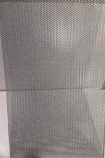 """20 GA. 304 STAINLESS STEEL PERFORATED SHEET 1/8""""HOLES   12"""" X 24"""""""