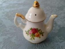 Royal Albert Old Country Rose teapot Pepper Shaker, Red, yellow flowers w/leaves
