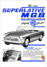 MG MGB 1962 RETRO POSTER A3 PRINT FROM CLASSIC ADVERT
