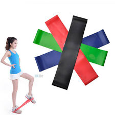 4 Elastic Resistance Band Exercise Tension Belt Training Fitness Latex Stretch