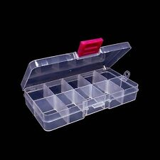 10 Compartment Adjustable Boxes Bead Jewelry Craft Storage Containers Lot of (5)