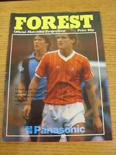 05/12/1981 Nottingham Forest v Liverpool  (the item is in good/very good conditi