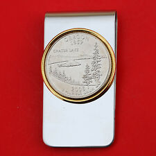 US 2005 Oregon State Quarter BU Uncirculated Coin Two Toned Money Clip New