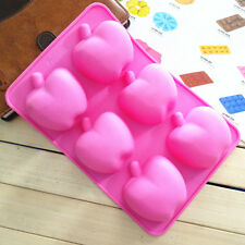 New Apple Shape Chocolate Cookie Candy Cake Soap Mold Silicone Baking Mould