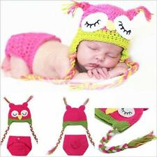 Newborn Baby Girls Boys Crochet Knit Costume Photo Photography Prop Outfits USA