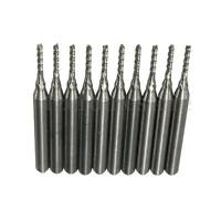10x Carbide End Mill Cutter Engraving Bits for CNC PCB Cutter Rotary Burrs 1.2mm