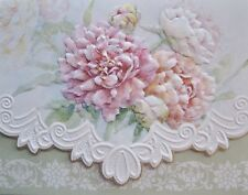 Carol Wilson Stationery 10 Note Cards Envelopes Blank Pink Peach Peony Floral
