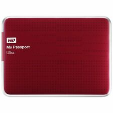 Western Digital My Passport Ultra 1TB USB 3.0 Portable External Hard Drive RED
