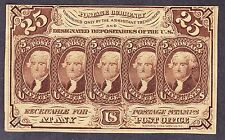 Us 25c 1st Issue Imperf Fractional Currency w/o Monogram Fr 1282 Ch Cu