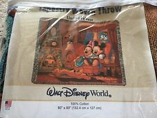 Tapestry Woven Walt Disney Throw With Mickey & Minnie Mouse