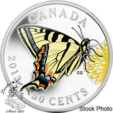 Canada 2013 50 Cent Canadian Butterfly Tiger Swallowtail Coin