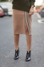 Zara Camel Tube Skirt With Piping Size X SMALL BNWOT