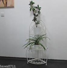 Eckregal Weiss Shabby Look Landhaus-stil Regal 93 cm Blumenregal Pflanztreppe