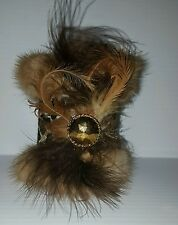 Beer Can  Bottle Fur Cover Holder Kozzie Real Mink Fur