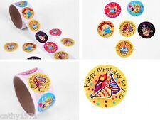 Lot of 24 Happy Birthday Round Stickers - For Christmas Stockings & Parties