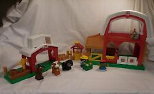Fisher Price Little People  Animal Farm Barn + Horse Stable Water Well Animals