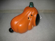 HTF Peanuts Halloween Snoopy Lighted Pumpkin Head Blowmold Display