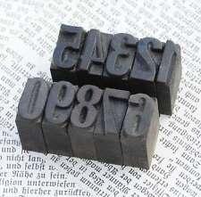 0-9 Zahlen Holzzahlen 18 mm Holzstempel Zahlenstempel Typo letterpress woodtype