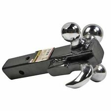 "3 in 1 Triple Tri Receiver Ball Mount with Hook Truck Trailer Tow  2"" 2-5/16"""