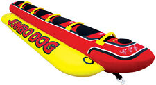 Airhead Jumbo Dog Towable Inflatable Water Ski Deck Tube Banana Ride 5 rider