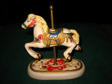 "CAROUSEL PORCELAIN HORSE FIGURINE~BY MICHAEL GOLDEN SUPEX~APPROX. 5"" TALL~L@@K"