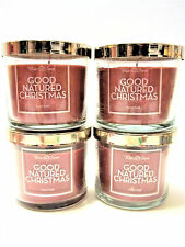 Bath Body Works White Barn GOOD NATURED CHRISTMAS Candles, 4 oz., NEW x 4