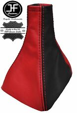 RED  & BLACK REAL LEATHER MANUAL GEAR GAITER FITS VAUXHALL OPEL VECTRA C 02-08