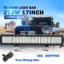 "17INCH 270W CREE TRI ROW LED LIGHT BAR SPOT FLOOD WORK OFFORAD ATV SUV 20"" / 18"""