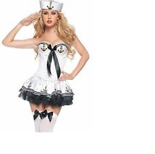 Ladies Woman Sailor Naval  Uniform Fancy Dress Costume Ladies Sailor Costume