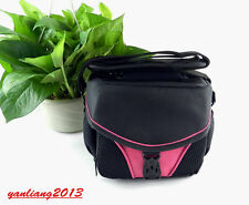 DSLR Shoulder Camera Bag case For Nikon Canon Sony Fuji Pentax Samsung PINK