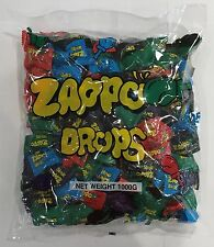 908060 1000g BULK BAG OF ZAPPO DROPS - FLAVORED CANDY! - EXCELLENT VALUE!!