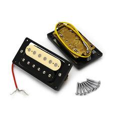 2 Humbucker Double Coil Guitare électrique Micros Un Noir Jaune Portable